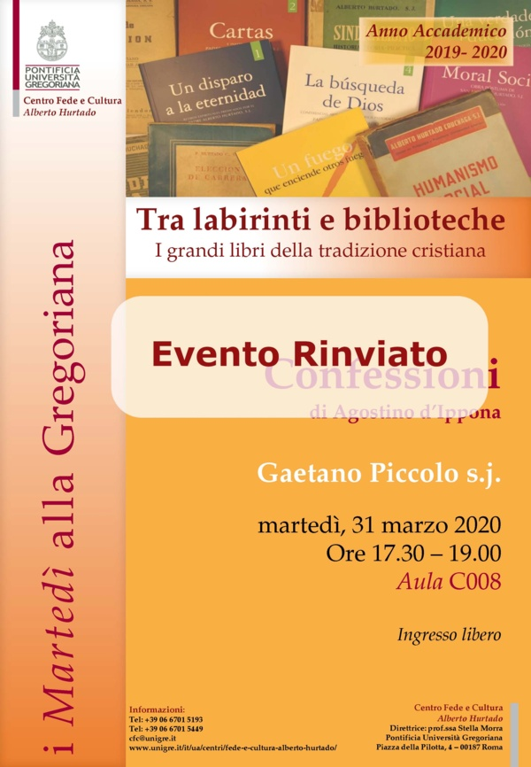 Tra labirinti e biblioteche - Confessioni d i Agostino d
