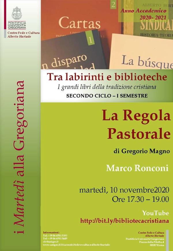 La Regola Pastorale by Gregorio Magno